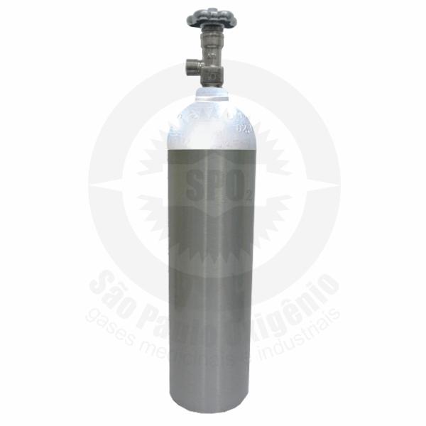 Cilindro de alumínio de 03 litros ou 1Kg para CO2 Medicinal
