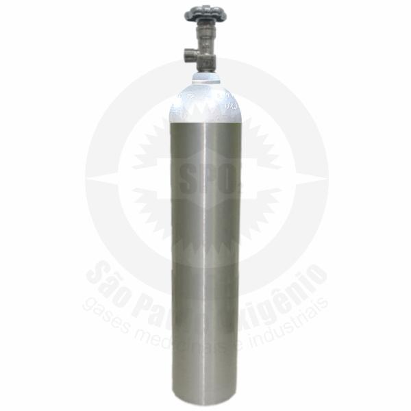Cilindro de alumínio de 05 litros ou 2 Kg para CO2 Medicinal