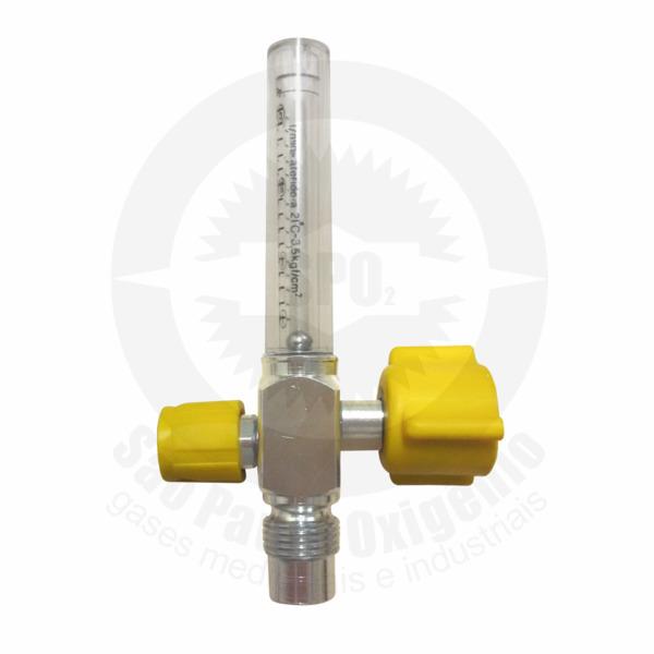 Fluxômetro 0-15 lpm  para ar comprimido medicinal