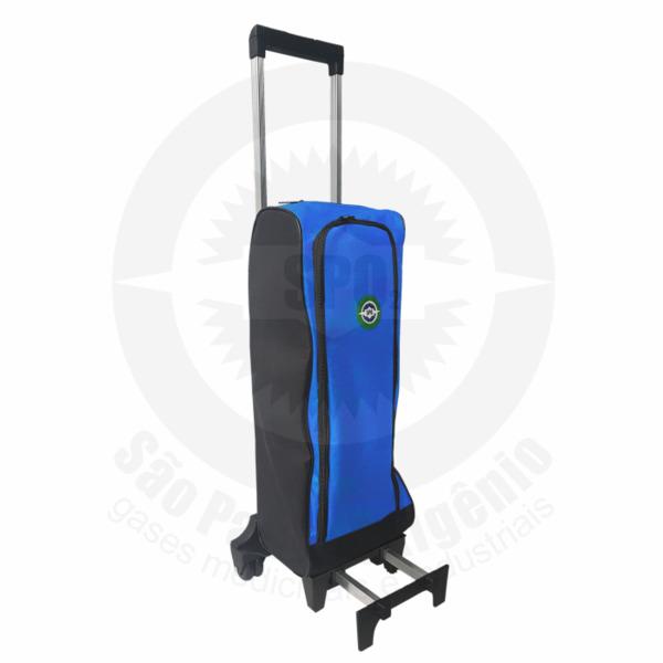 Mochila para cilindros de oxigênio 03 litros - Azul
