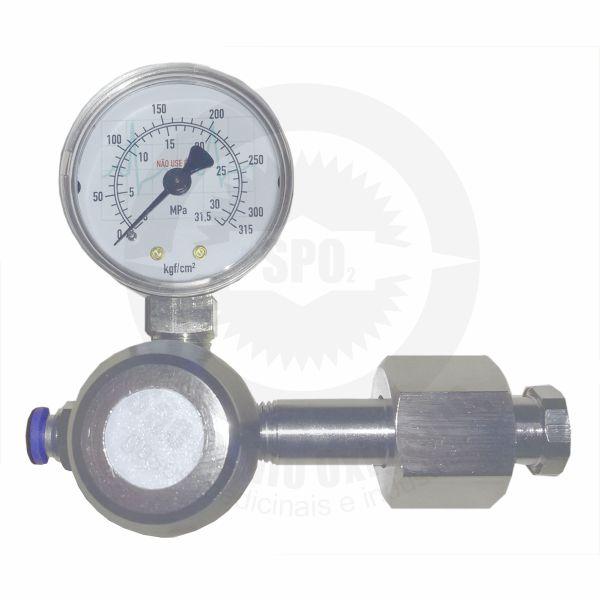 Regulador de Pressão para CO2 Medicinal c/ 01 Saída