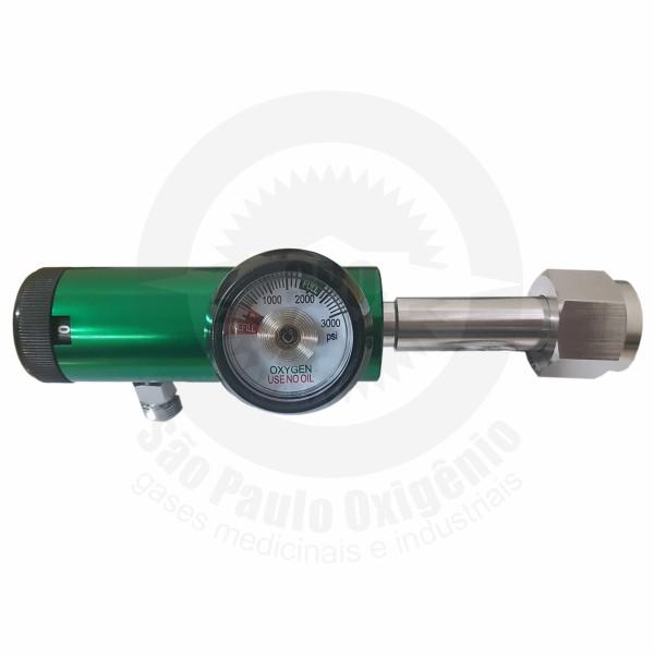 Regulador de pressão c/ fluxometro embutido p/ válvula CGA