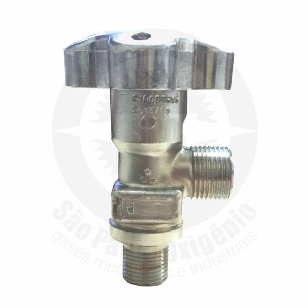 Válvula cromada p/ cilindro de oxigênio medicinal de alumínio