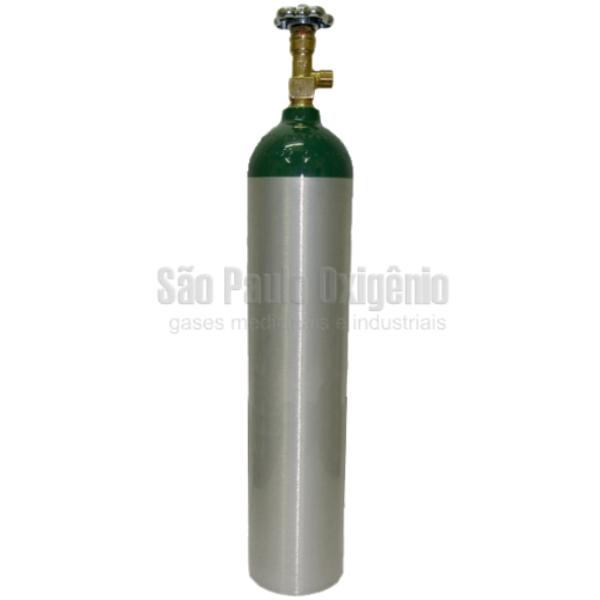 Cilindro de alumínio de 05 litros para oxigênio medicinal