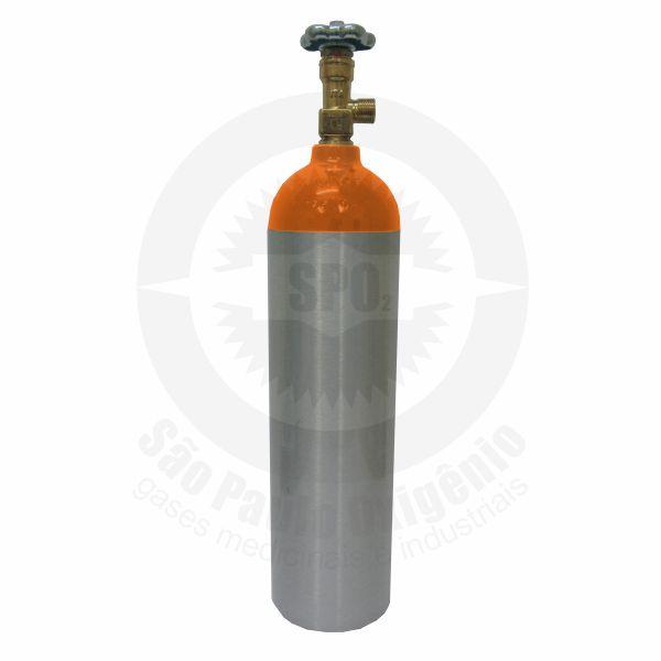 Cilindro de alumínio de 03 litros para gás hélio