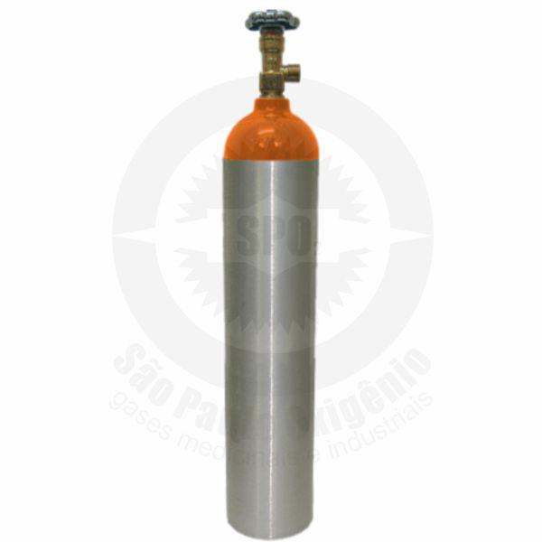 Cilindro de alumínio de 05 litros para gás hélio