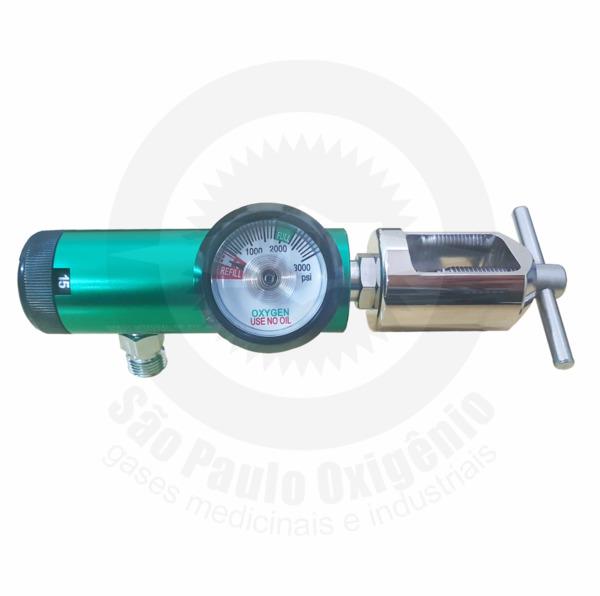 Regulador de pressão c/ fluxômetro embutido p/ válvulas YOKE