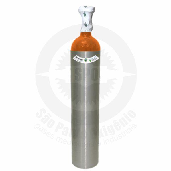 Recarga de gás hélio 05L (0,7m³) para cilindro de alumínio