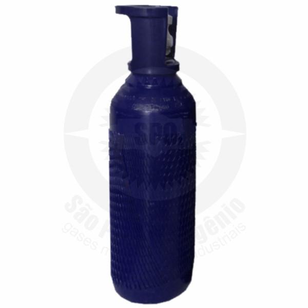 Cilindro de aço para 4,5 kg de óxido nitroso