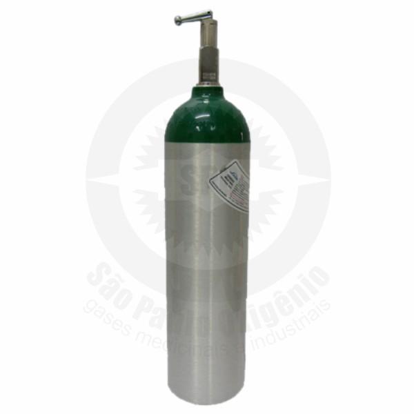 Recarga de oxigênio medicinal 03L (0,5m³) para cilindro de alumínio YOKE
