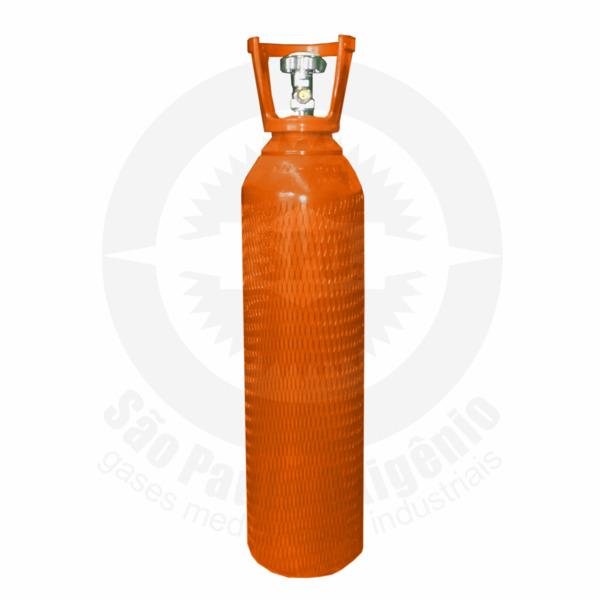 Cilindro de aço de 10 litros para gás hélio