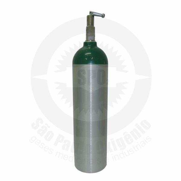 Cilindro de alumínio de 03 litros para oxigênio medicinal - YOKE