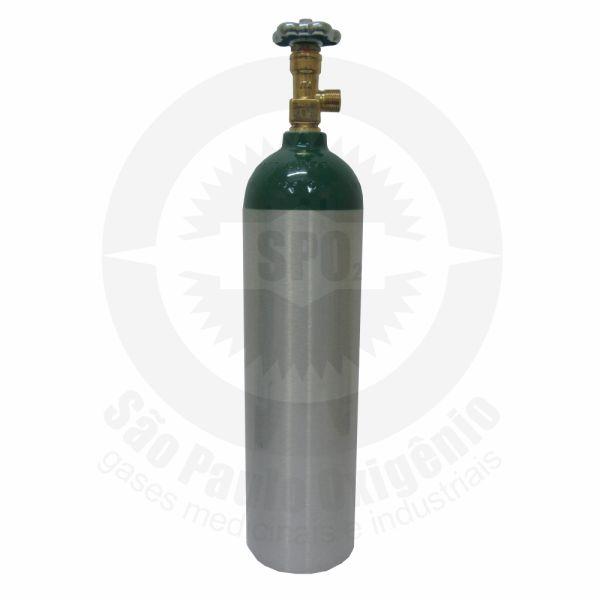 Cilindro de alumínio de 03 litros para oxigênio medicinal