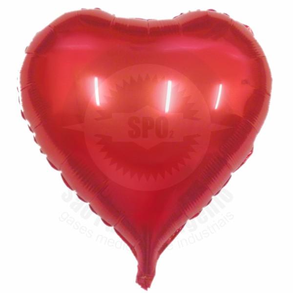 Balão de coração metalizado 18