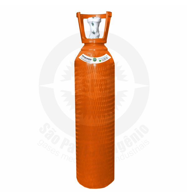 Recarga de gás hélio 10L (1,5m³) para cilindro de aço