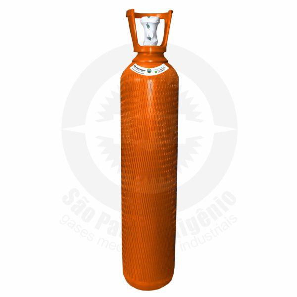 Recarga de gás hélio 15L (2m³) para cilindro de aço