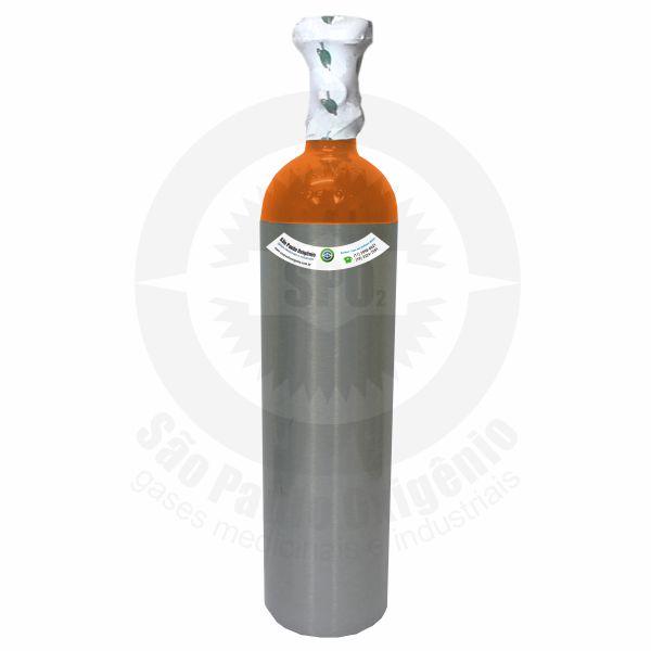 Recarga de gás hélio 03L (0,5m³) para cilindro de alumínio