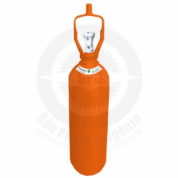 Recarga de gás hélio 07L (1m³) para cilindro de aço