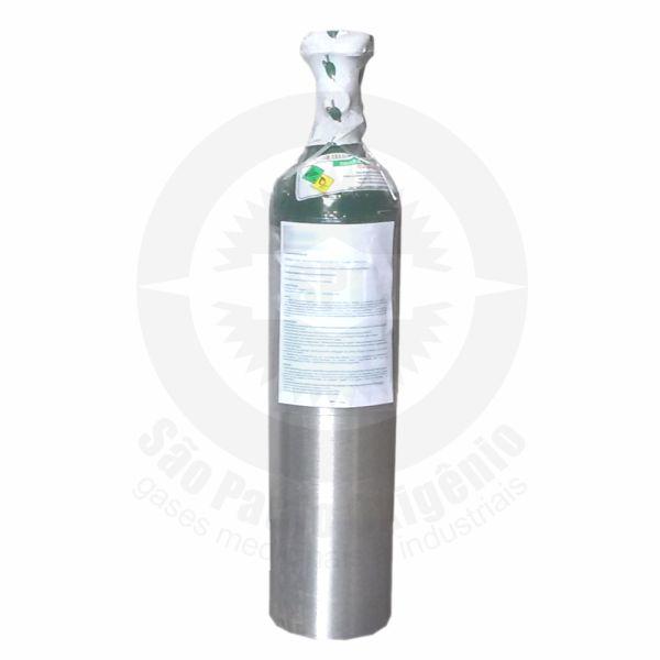 Recarga de oxigênio medicinal 03L (0,5m³) para cilindro de alumínio