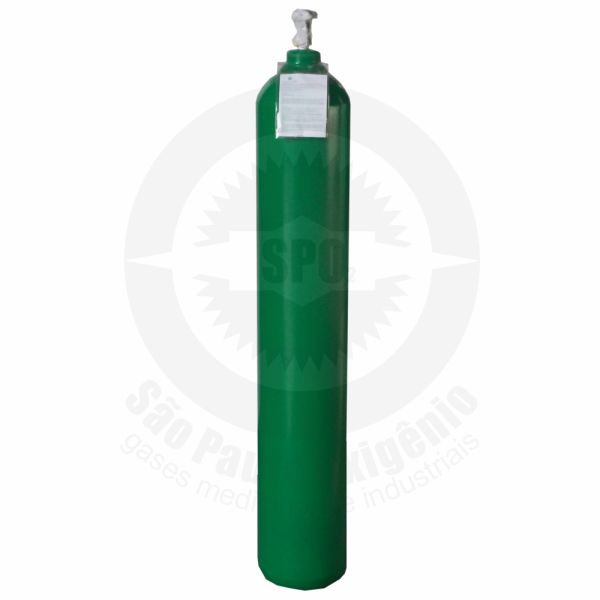 Recarga de oxigênio medicinal 40L (6m³) para cilindro de aço