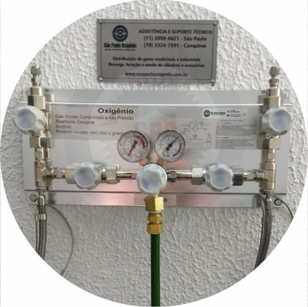 Rede canalizada manual p/ gases medicinais