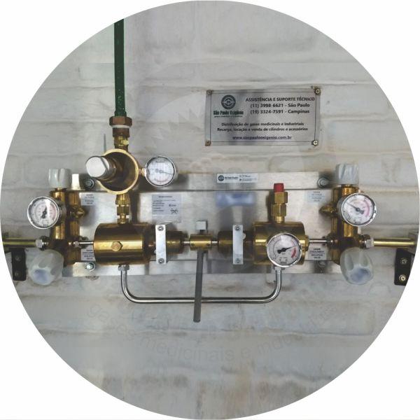 Rede canalizada semi-automática p/ gases medicinais