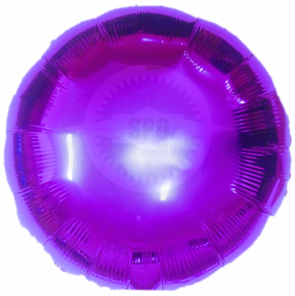 Balão redondo metalizado 18