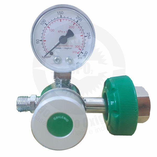 Regulador de pressão de oxigênio medicinal p/ válvula CGA