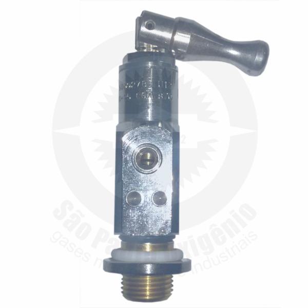 Válvula cromada YOKE p/ cilindro de oxigênio medicinal de alumínio