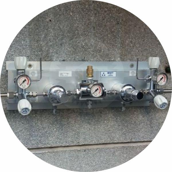 Rede canalizada automática p/ gases medicinais