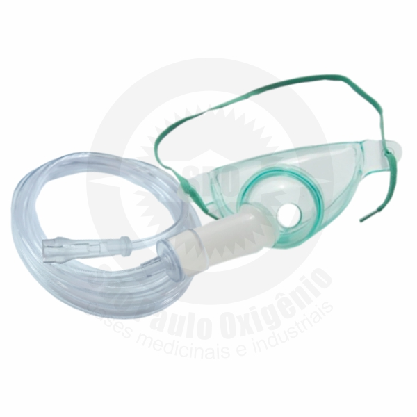 Kit máscara de traqueostomia (adulto) com extensão de 1,5m.