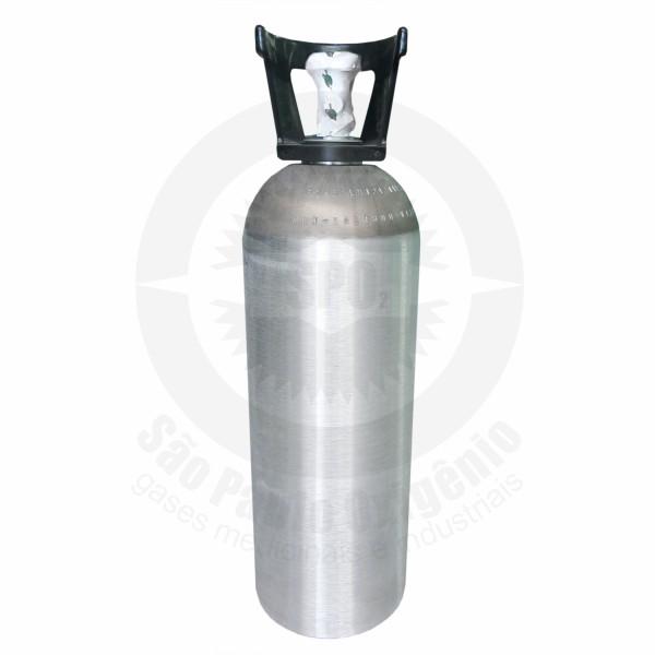 Recarga de 09 Kg de CO2 industrial (Cilindro de alumínio)