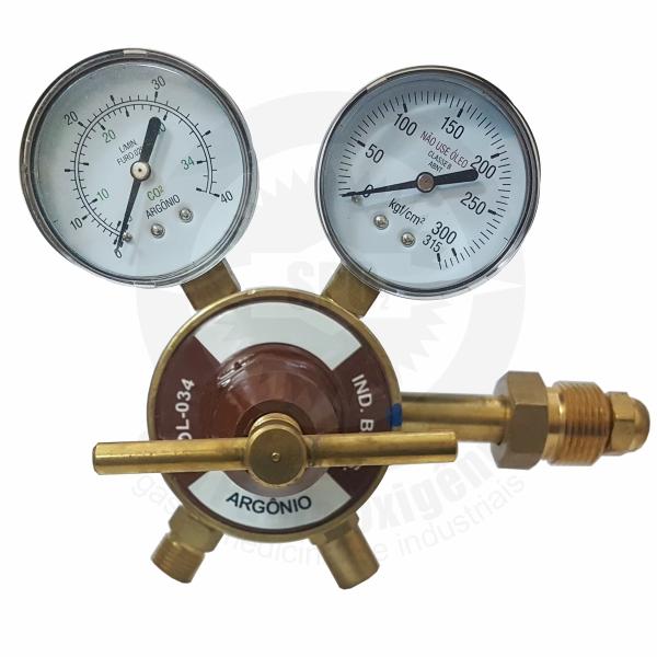 Regulador de pressão para argônio industrial