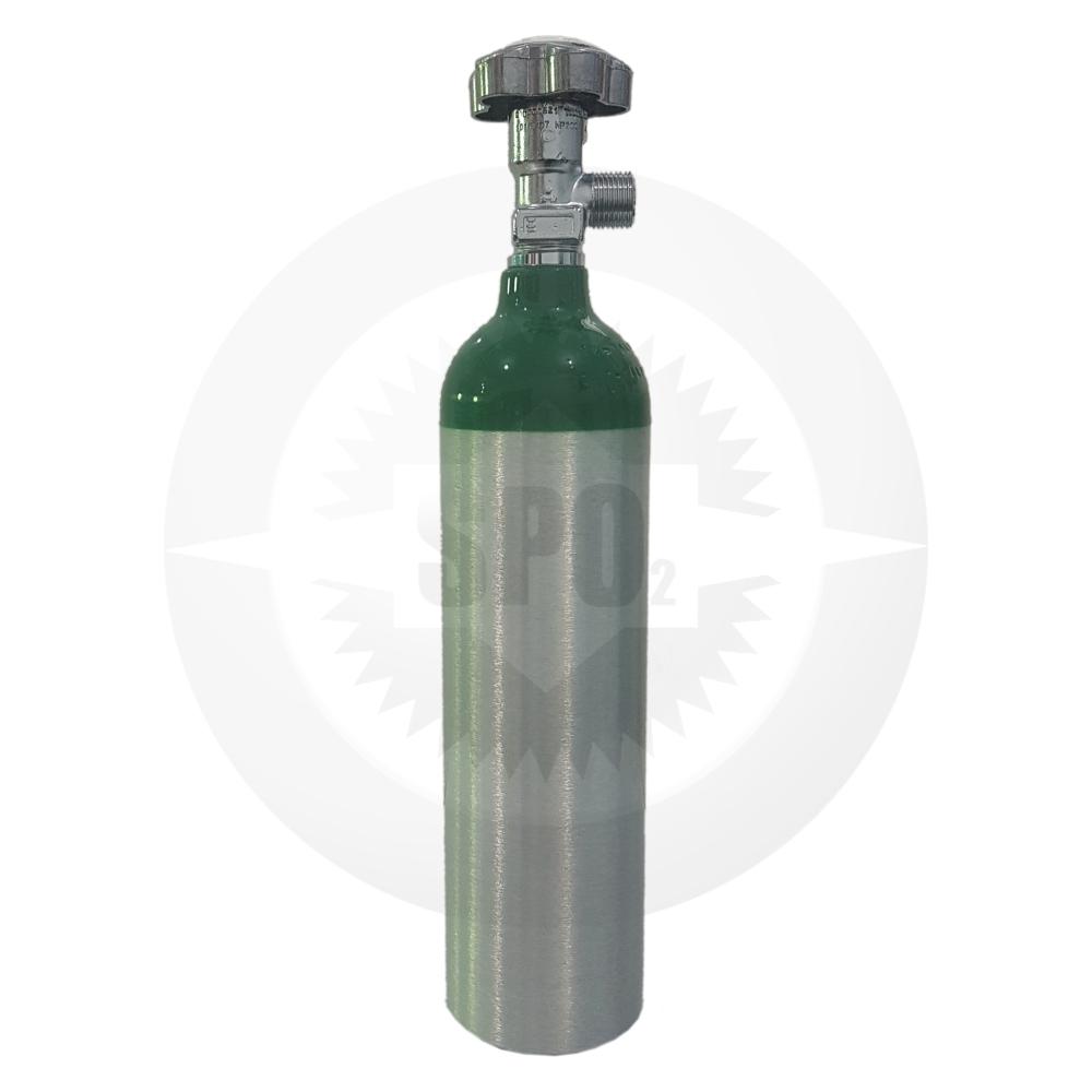 Cilindro de alumínio de 01 litro para oxigênio medicinal